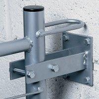Metalen bevestigingsplaten voor veiligheidshek