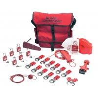 Lockout kit met opbergtas voor ventielen