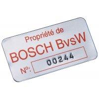 Personaliseerbare eigendomsstickers SetonGuard® van geanodiseerd aluminium
