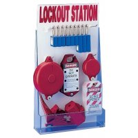 Wit lockout station voor lockout en tagout materiaal