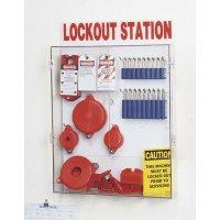 Wit lockout station voor lockout en tagout materiaal