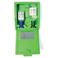Oogspoelstation: wandbox + neutrale en zoutoplossing