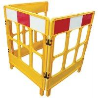 Inklapbare bouwwerf omheining van geel polypropyleen