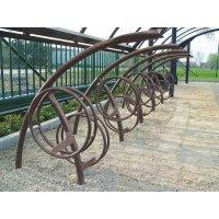 Design fietsenrek met 2 niveaus