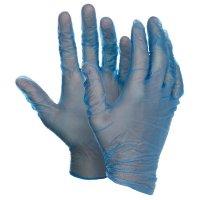 Handschoenen van blauw vinyl Polyco® Bodyguards® 4 Blue Vinyl PF GL843