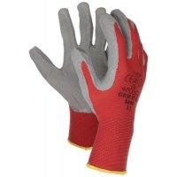 Werkhandschoenen met luchtdoorlatende bovenkant, gevoerd met latex schuimrubber