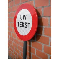 "Personaliseerbare verbodsborden met anti-graffiti coating ""Algemeen verbod"""