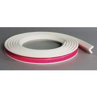 Platte stootrand Optichoc effen kleur - hoek van 19 mm