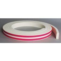 Platte stootrand voor muur Optichoc, effen kleur - oppervlak van 50 mm