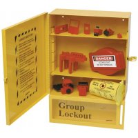 Combinatie lockoutstation met inhoud en group lockout box
