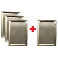 Affichehouder met klikbare aluminium omlijsting 3+1 gratis