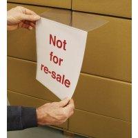 Transparante documenthouder in A4-formaat voor tijdelijke boodschap