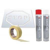 Kit met sjabloon en markeringsverf - Stop