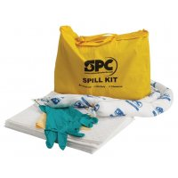Kit met absorptiemiddelen voor olie, in draagtas