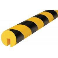 Afgeronde stootrand in U-vorm Optichoc, gearceerd - voor randen van 12 mm