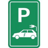 "Parkeerbord ""elektrische auto"""