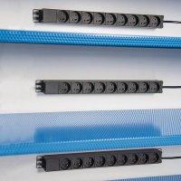 Verdeelstekker met 9 stopcontacten voor veiligheidskast voor lithiumbatterijen