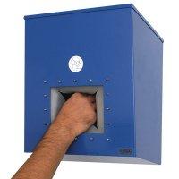 Dispenser van gelakt staal voor ademhalingsmaskers