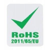 Etiket met RoHS-markering