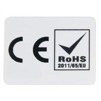 Etiket met CE- en RoHS-markering