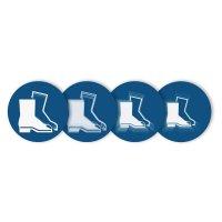 """Harde stickers met animatie SETON MOTION® """"Veiligheidsschoenen verplicht"""""""