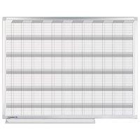 Planbord voor jaarplanning in groot formaat