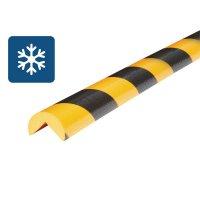 Afgeronde stootrand van schuim Optichoc voor koude omgevingen - hoek van 25 mm