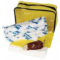 ADR-kit met absorptiemiddelen voor olie