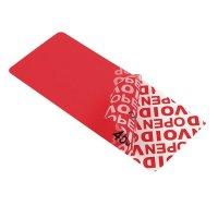 """Gekleurde stickers met tamper evidence """"VOID"""" - met transfer"""