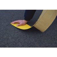 Gele, zelfklevende stroken voor tijdelijk wegmarkering - lijnen