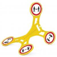 Roterend signaleringsbord Seton 360 - Social distancing