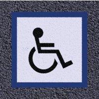 Thermoplastische vloermarkering: toegang voor rolstoelgebruikers