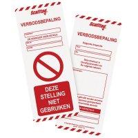 Insteekkaarten voor inspectiekit steigers MK1