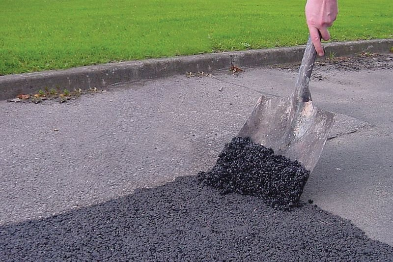 Kit 3 potten koudasfalt en 1 asfaltstamper - Seton
