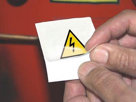 Rechthoekige waarschuwingsstickers Elektrisch gevaar - Seton