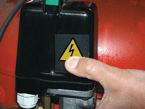 Rechthoekige waarschuwingsstickers Elektrisch gevaar -