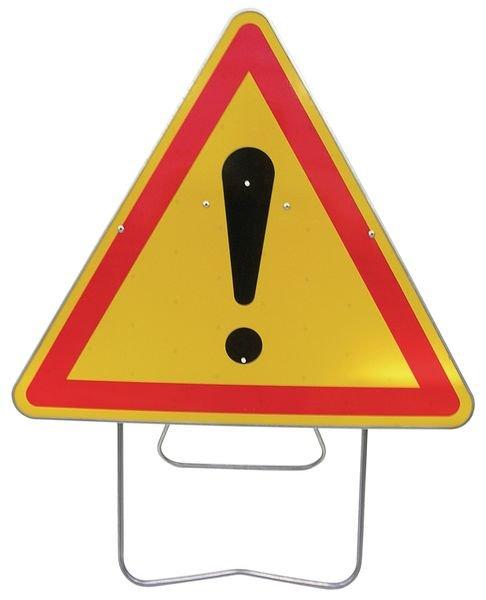 Tijdelijke waarschuwingsborden op steun Gevaar (algemeen)