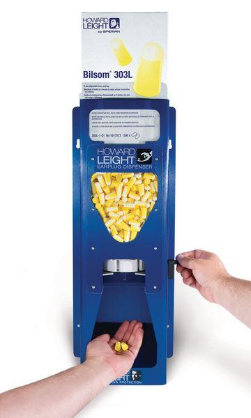 Aluminium dispenser voor oordopjes