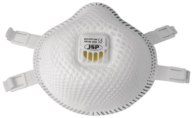 Wegwerp FFP3-stofmasker JSP® Flexinet™, zonder metalen onderdelen