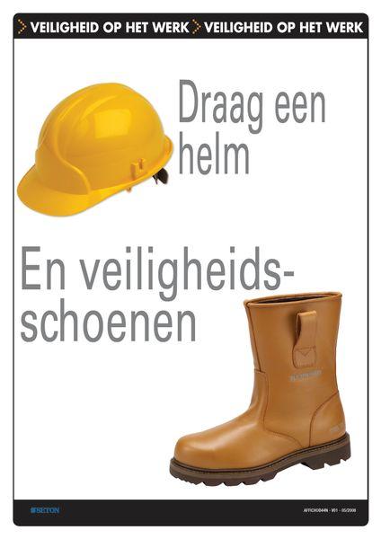 Veiligheidsposters - Draag een helm en veiligheidsschoenen