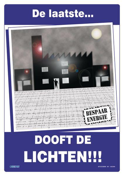 Posters voor milieubescherming - De laatste dooft de lichten!