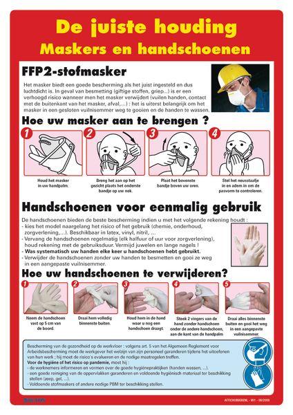 Veiligheidsposters - Maskers en handschoenen