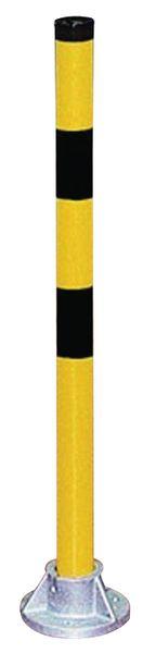 Modulaire, stalen beschermboog met reling en onderrijbeveiliging