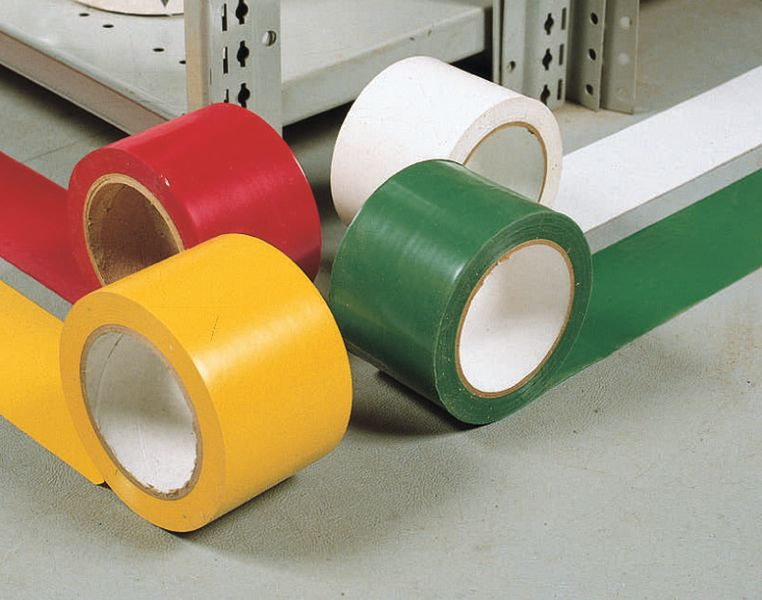 Gekleurde vloertape van vinyl op rol seton belgië