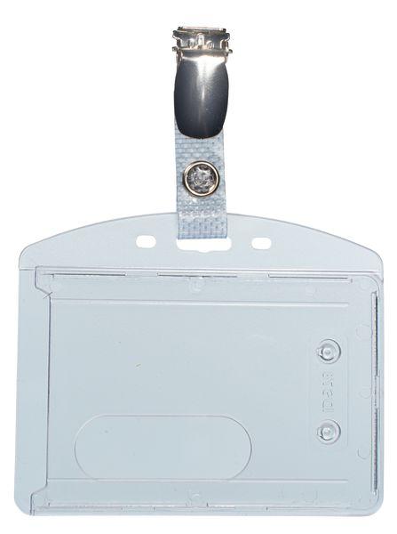 Harde badgehouder van transparant polycarbonaat, voor ISO-kaarten
