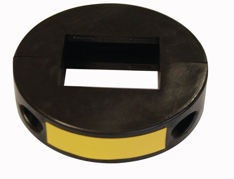 Schokbestendige beschermring voor bevestiging rond paal