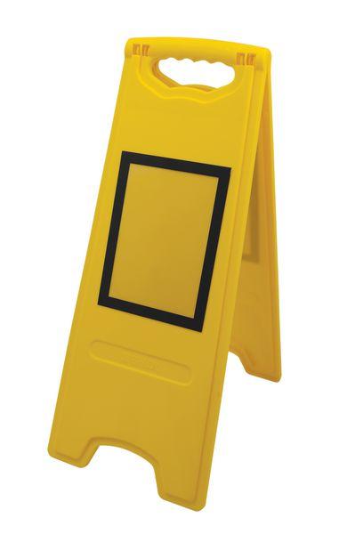 Tweezijdig opvouwbaar waarschuwingsbord met magnetische affichehouder