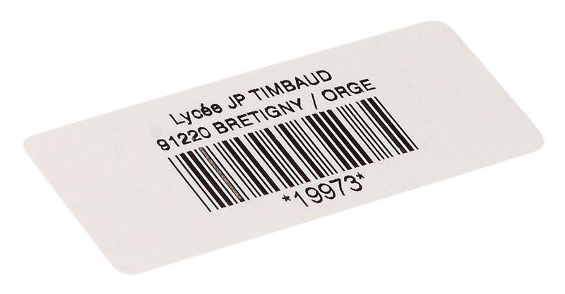 Personaliseerbare stickers met barcode, van papier