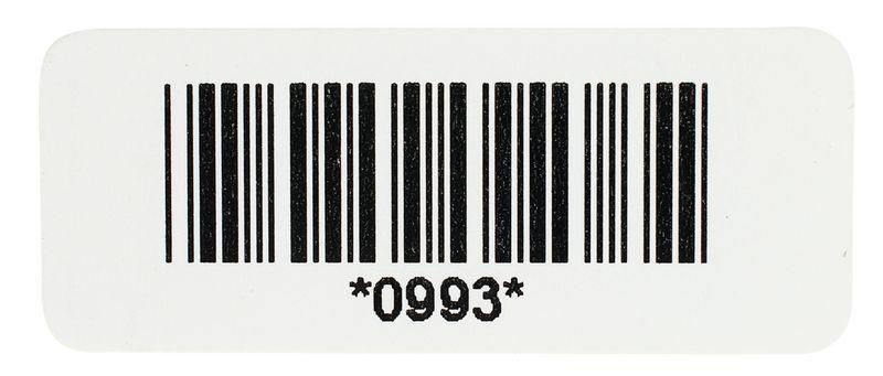 Stickers met barcode en nummering, van papier