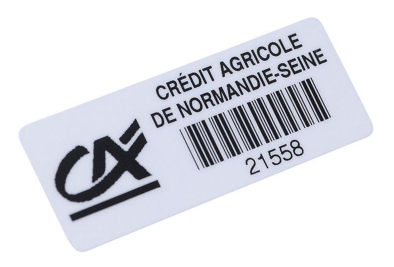 Personaliseerbare stickers met barcode, van goed verwijderbaar vinyl